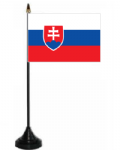 Slovakia Desk / Table Flag with plastic stand and base.